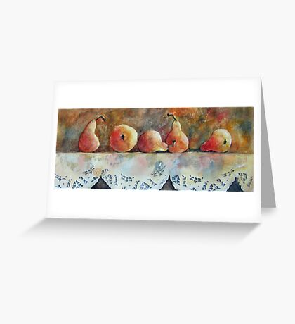 A Gathering of Pears Greeting Card