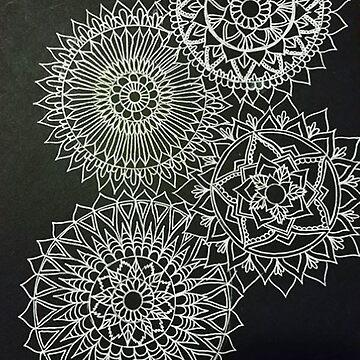 Mandala Drawing, Mandala Art, Trippy Art by ArtbyMeganBrock