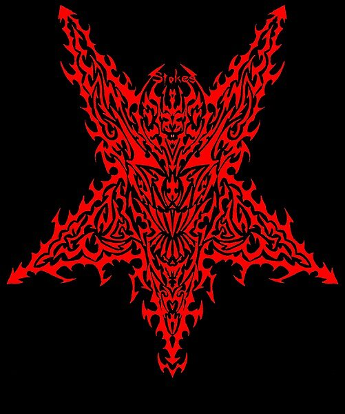 STAR OF SATAN (c) CHRISTOPHER S STOKES 2002 by Christopher  Stokes