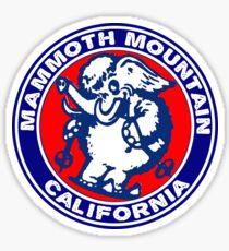 Skiing Mammoth Mountain California Elephant Ski Snowboarding Sticker