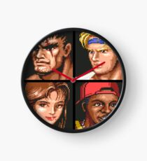 Streets of Rage 2 Character Portraits Clock