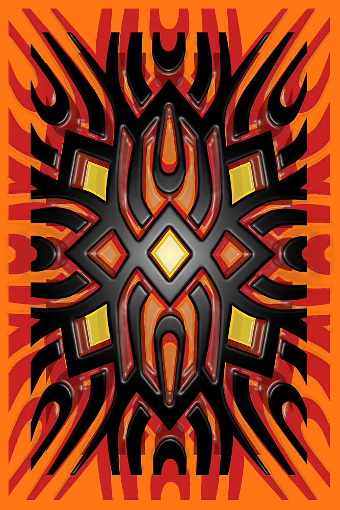 Orange tribal by CjDietz