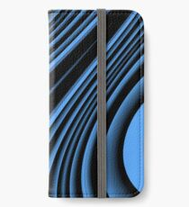 Black and blue arc iPhone Wallet/Case/Skin