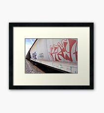 Train Tagging Framed Print