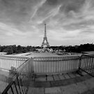 The Eiffel Tower from the Trocadero by Kent Nickell