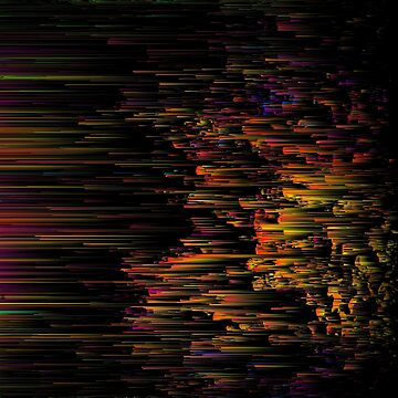 Rainbow Light Speed - Abstract Glitchy Pixel Art by InsertTitleHere
