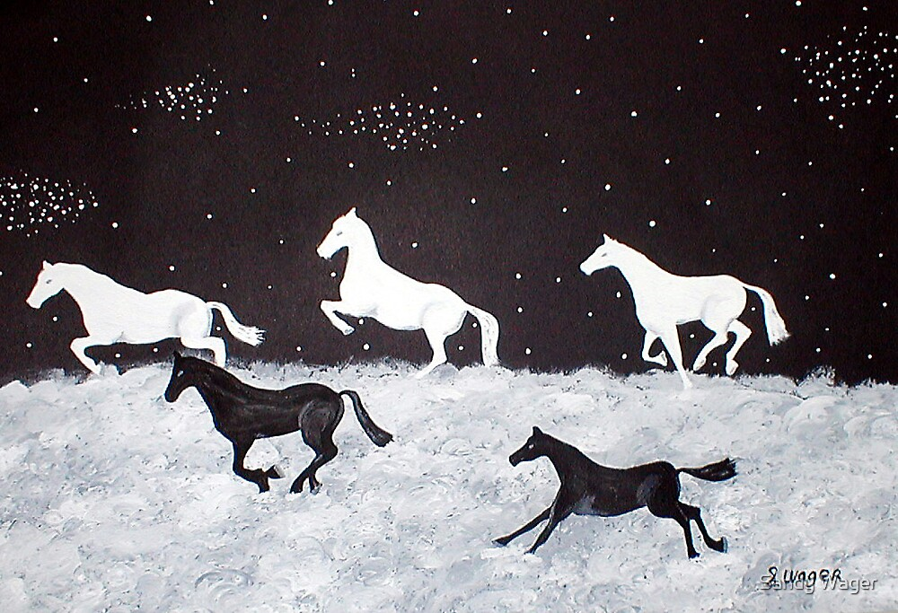 Stallions Of The Night by Sandy Wager