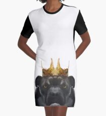 the King, Paper Hats Graphic T-Shirt Dress