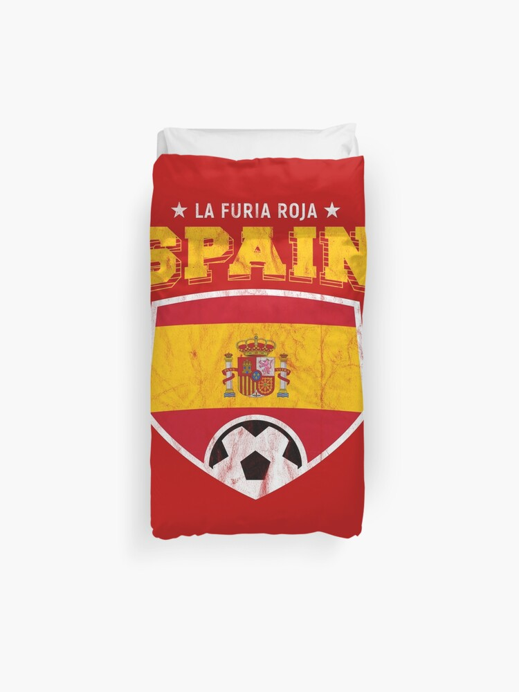 2b2823c4fb7 Spain Football National Flag T Shirt World Soccer Jersey Cup Duvet Cover
