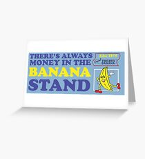 Banana Stand Greeting Card