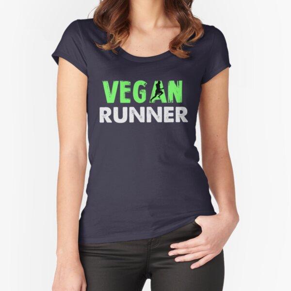 Vegan Runner Fitted Scoop T-Shirt