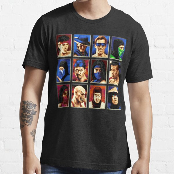 Mortal Kombat II Genesis Personnage Choisir T-shirt essentiel