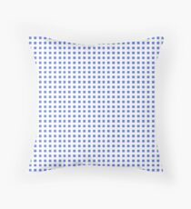 Psychedelic blue and white square IX. Throw Pillow