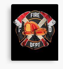 Firefighter Gift Fireman Fire Rescue Department EMS Firefighters Canvas Print