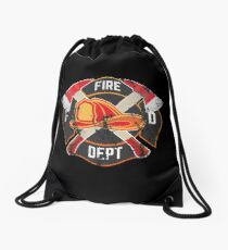 Firefighter Gift Fireman Fire Rescue Department EMS Firefighters Drawstring Bag