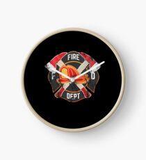 Firefighter Gift Fireman Fire Rescue Department EMS Firefighters Clock