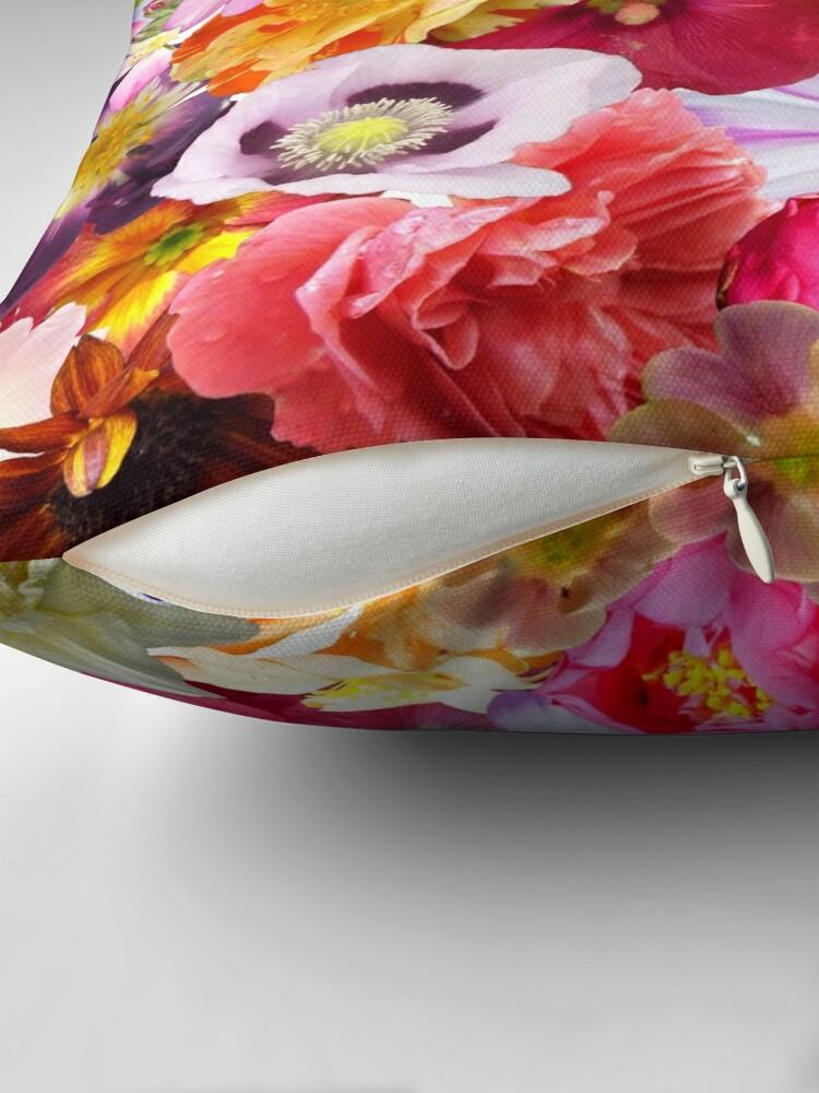 Alternate view of Flower Power  Throw Pillow
