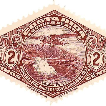Classic Costa Rica Stamp by FringeInk