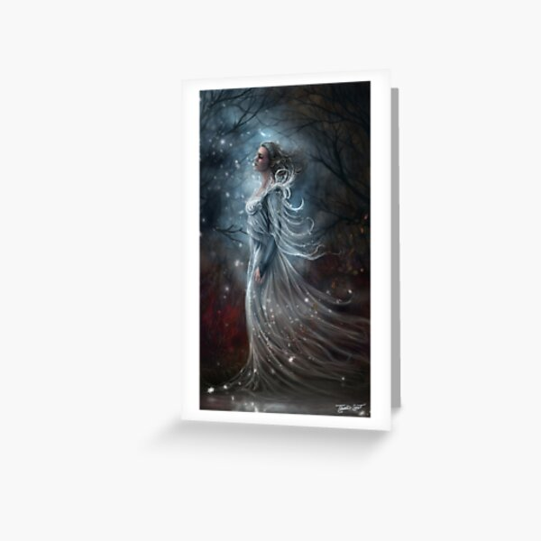 First Kiss of Frost - Magical Wintery Woman Greeting Card