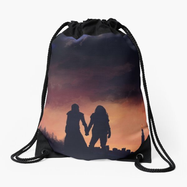 Earth meets the Sky Drawstring Bag