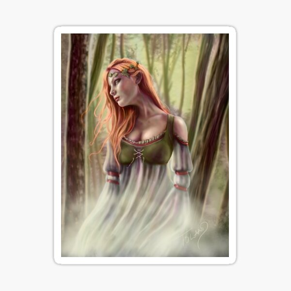 Beneath the Ivy - Ghostly Woman in Forest Sticker