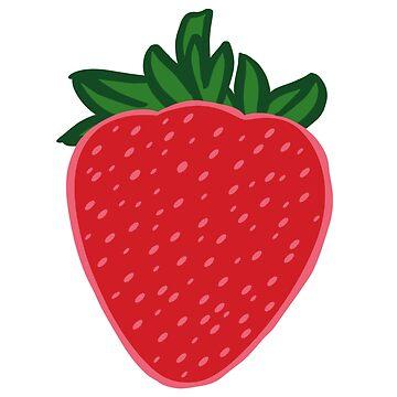 Cute Red Strawberry Pattern  by HoneybethStudio