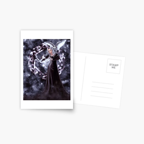 Arianrhod - Goddess with Stars and Celtic Knot Postcard
