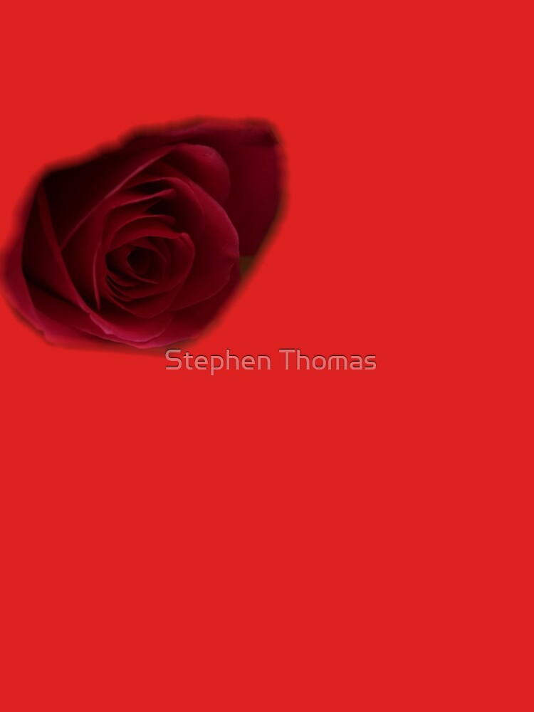 Dark Rose on right breast T-Shirt by stephenralph