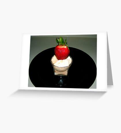 STRAWBERRY/ORANGE/VANILLA SHERBET Greeting Card