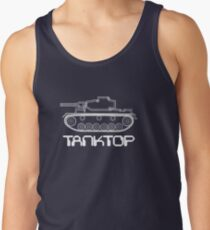 military tank silhouette funshirt for airsoft, paintball, gotcha and lasertag Tank Top
