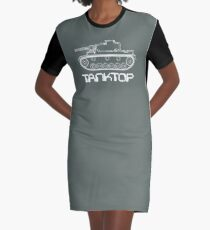 military tank silhouette funshirt for airsoft, paintball, gotcha and lasertag Graphic T-Shirt Dress