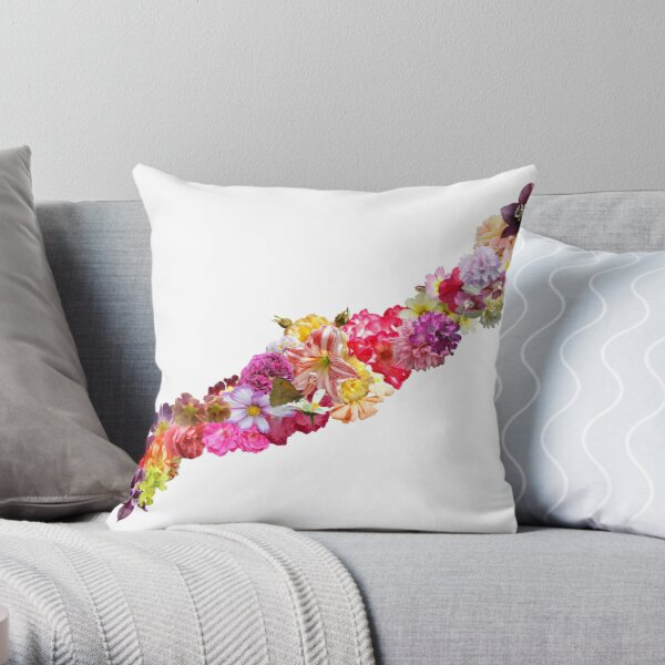 Cottage Garden Garland Throw Pillow