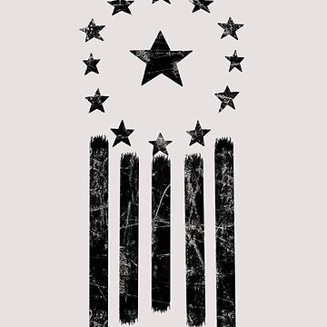 Old World American Flag [BLACK] by Styl0