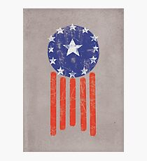Old World American Flag Photographic Print
