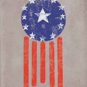 Old World American Flag by Styl0