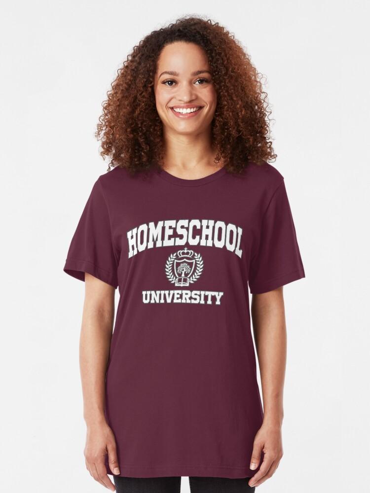 Alternate view of Homeschool University Graduation Gifts Slim Fit T-Shirt