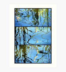 Pond Life - Triptych Art Print