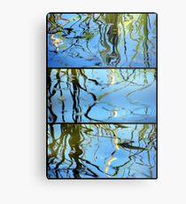 Pond Life - Triptych Metal Print
