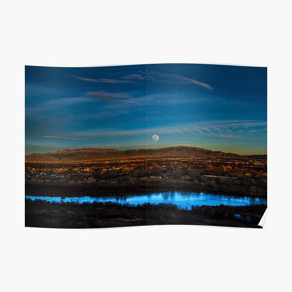 Majestic Albuquerque Moon  Poster