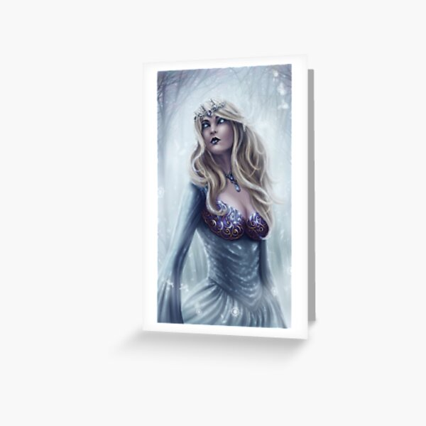 Winter Queen - Fantasy Winter Goddess Greeting Card