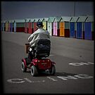 Fine Art Photograph Made With Toy Camera - Disabled Man in Brighton by Christopher Ball