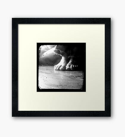 His Feet Framed Print