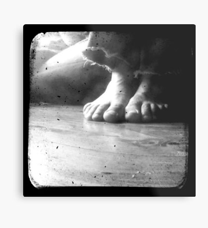 His Feet Metal Print