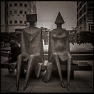 Fine Art Photograph Made With Toy Camera - Street Art, Docklands, London by Christopher Ball