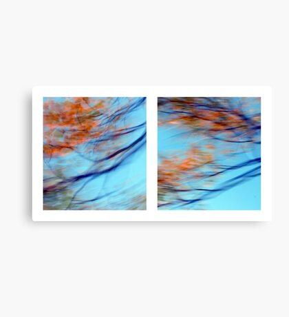 Autumn Impressions - Diptych #2 Canvas Print