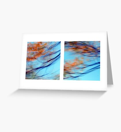 Autumn Impressions - Diptych #2 Greeting Card