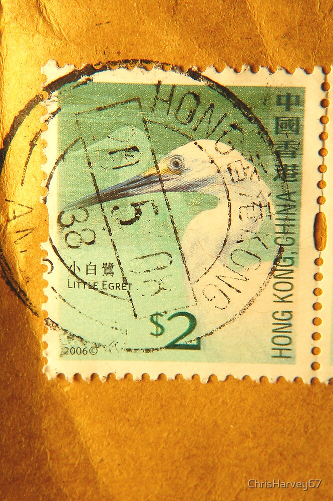 Watermarked Stamp (Hong Kong) by ChrisHarvey67