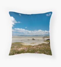 North Uist: Vallay Beach - Traigh Bhalaig Throw Pillow