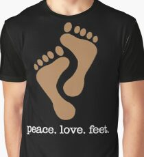 Peace Love Feet Shirt Graphic T-Shirt