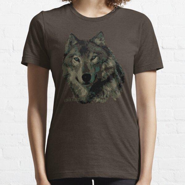 Wolf Camo / American Outdoor Wilderness Essential T-Shirt